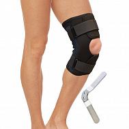 Бандаж на коленный сустав разъемный с металлическими шарнирами арт.T-8518